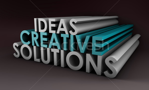 Creative idées solutions 3d illustration technologie rêve Photo stock © kentoh