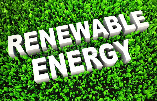Energie rinnovabili terra pioggia verde industria energia Foto d'archivio © kentoh