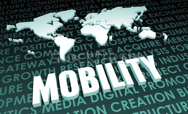 Mobilité industrie mondial norme 3D carte Photo stock © kentoh