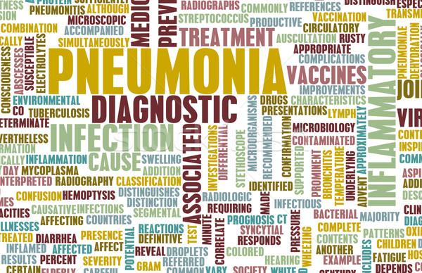 Longontsteking medische ziekte kunst abstract gezondheid Stockfoto © kentoh