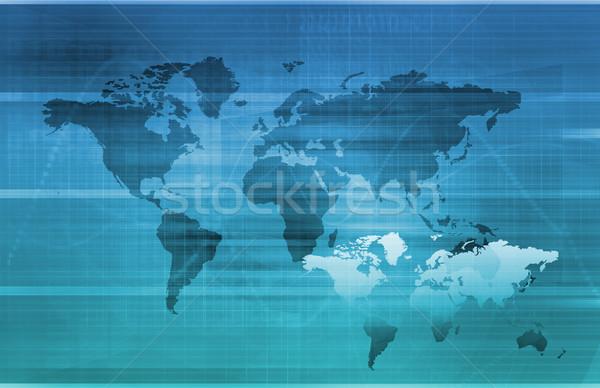 Global bilgi teknolojisi başlangıç dünya Sunucu web Stok fotoğraf © kentoh