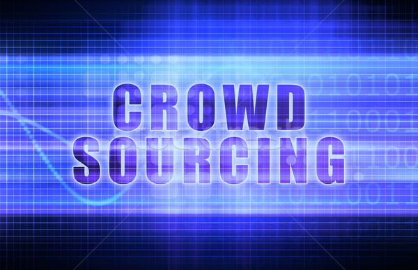 Crowdsourcing tech business grafico arte Foto d'archivio © kentoh