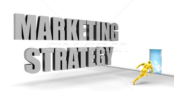Estratégia de marketing rápido seguir dirigir rápido caminho Foto stock © kentoh