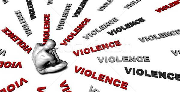 Geweld lijden slachtoffer huilen mannelijke triest Stockfoto © kentoh