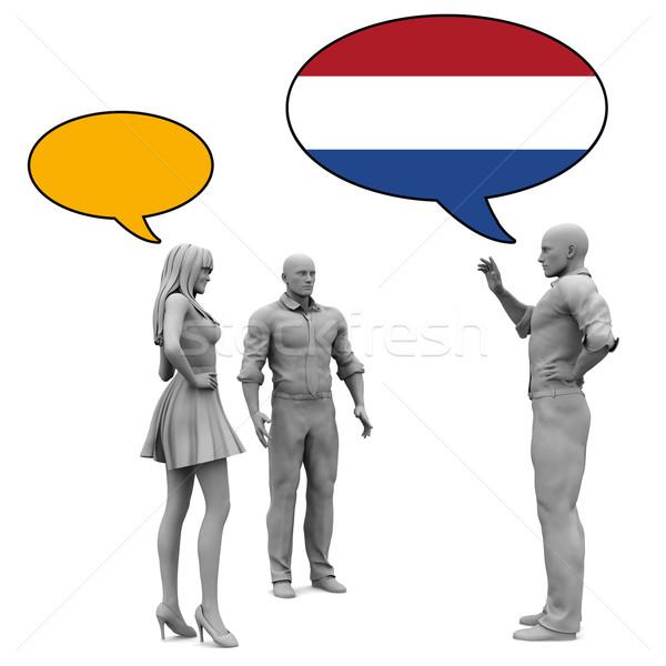 Tanul holland kultúra nyelv nő barátok Stock fotó © kentoh