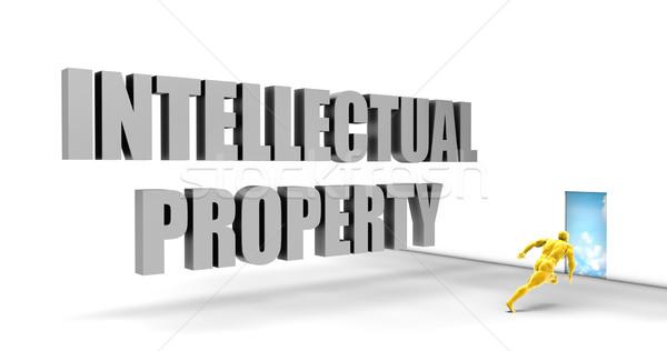 Intellectuele eigendom snel track direct pad Stockfoto © kentoh
