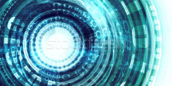 技術 ポータル デジタル サークル アクセス 背景 ストックフォト © kentoh