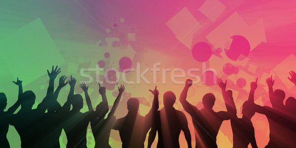 Muziek ervaring geluid equalizer abstract achtergrond Stockfoto © kentoh