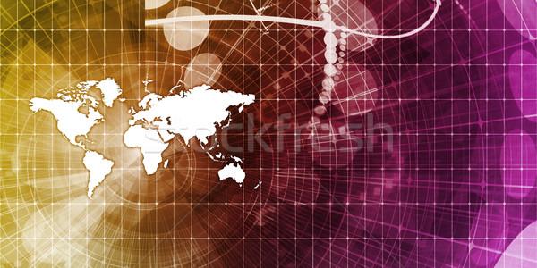 Wereldwijde business abstract presentatie business werk achtergrond Stockfoto © kentoh
