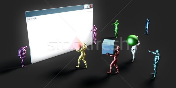 Háló informatika művészet jövő internet technológia Stock fotó © kentoh