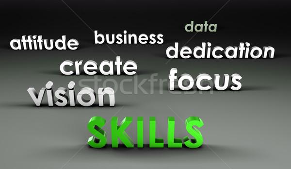 навыки 3D презентация фон корпоративного работу Сток-фото © kentoh