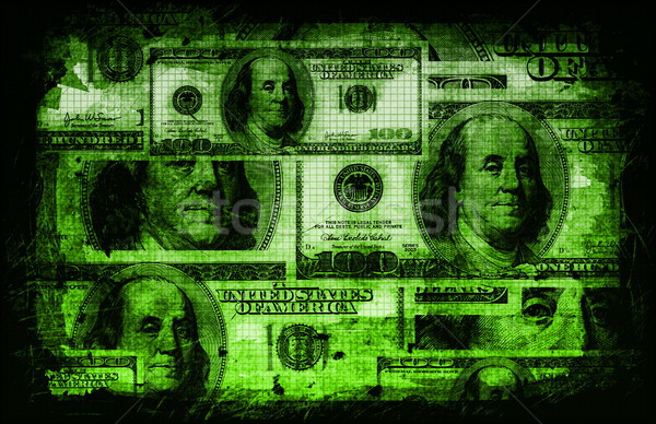 American US Dollars Currency Abstract Stock photo © kentoh