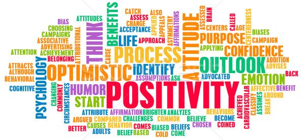 Positivität positive Haltung Leben Hintergrund Denken denken Stock foto © kentoh