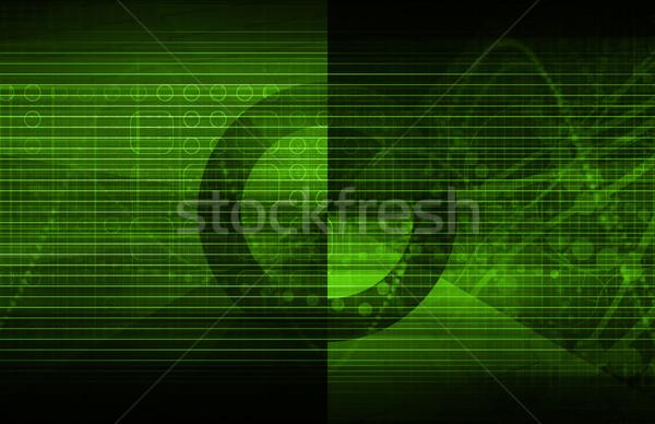 Telecommunicatie mobiele gegevens grid business werk Stockfoto © kentoh