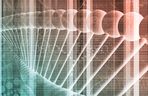 Business genetica dna onderzoek bouw technologie Stockfoto © kentoh