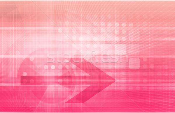 Przemysłu działalności Internetu streszczenie technologii Zdjęcia stock © kentoh