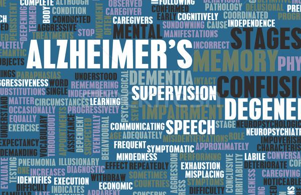 Alzheimer demência médico condição cérebro pessoa Foto stock © kentoh