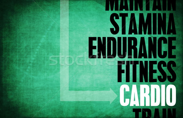 Cardio core principes affaires fitness rétro Photo stock © kentoh