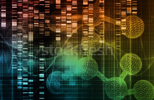 Genetisch dna genoom technologie achtergrond toekomst Stockfoto © kentoh