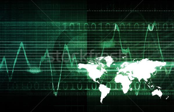 Technologie Netzwerk Daten Netz Web Corporate Stock foto © kentoh