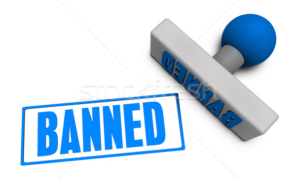 Banned Stamp Stock photo © kentoh
