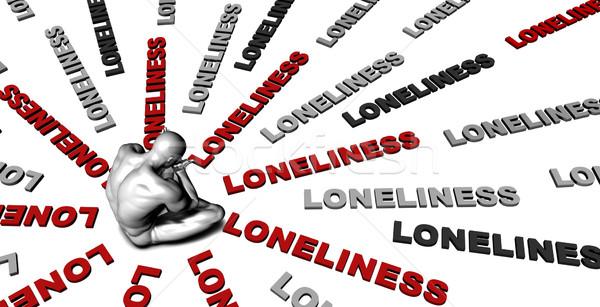 Yalnızlık kurban ağlayan erkek üzücü Stok fotoğraf © kentoh