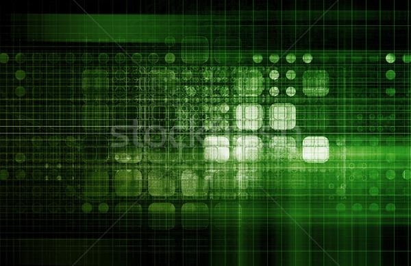 Technologie solutions affaires ordinateur fond réseau Photo stock © kentoh