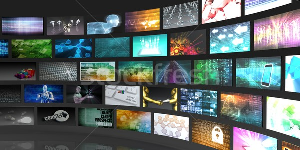 Televízió gyártás technológia videofal film háttér Stock fotó © kentoh