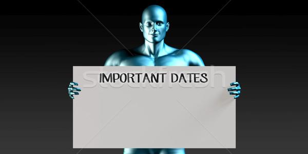 Importante dates homme rappel signe Photo stock © kentoh