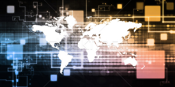Global Business Präsentation Kunst Arbeit Welt Technologie Stock foto © kentoh
