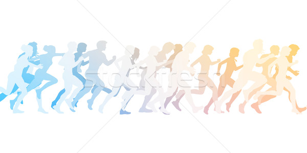 Cardio formation exercice groupe classe illustration Photo stock © kentoh