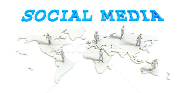 Social media Global Business Stock photo © kentoh