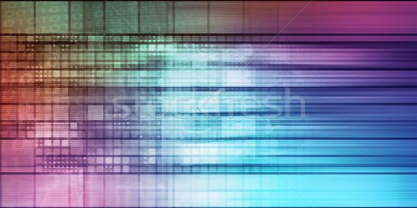 Pixel absztrakt digitális Stock fotó © kentoh