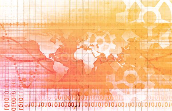 世界的な 技術 金融 企業 デジタル 販売 ストックフォト © kentoh