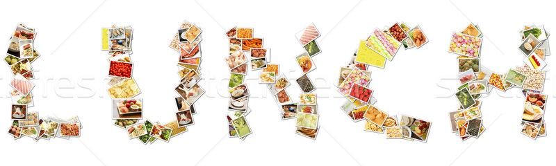 ランチ 食品 コラージュ 写真 文字 ストックフォト © kentoh