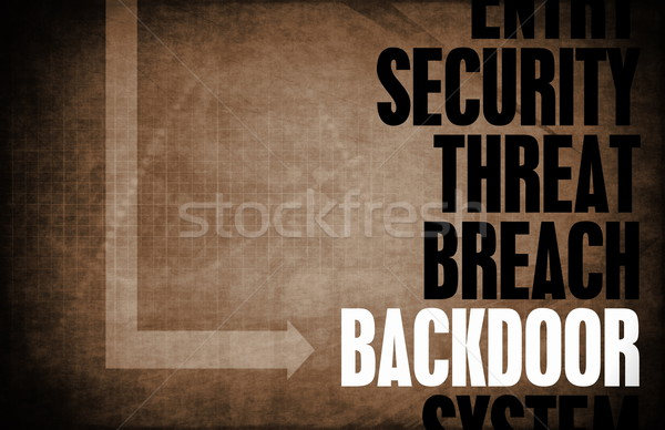 Backdoor Entry Stock photo © kentoh