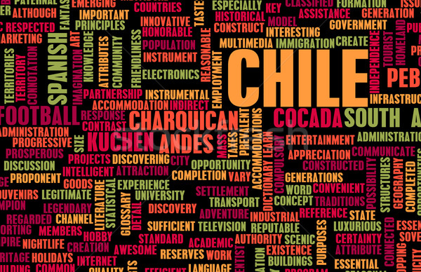 Foto stock: Chile · país · resumen · arte · negocios · alimentos
