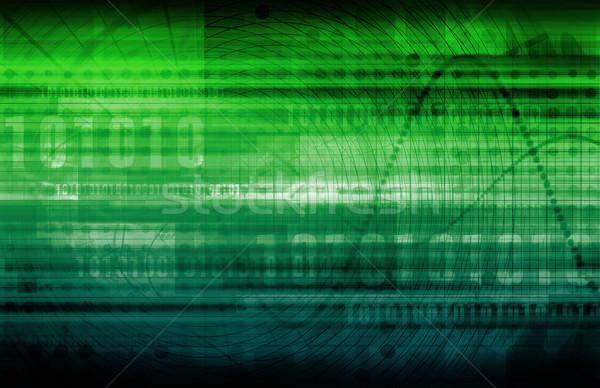 Analitica previsione software arte modello cross Foto d'archivio © kentoh