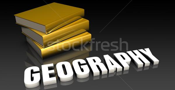 Géographie éducation livres livre web Photo stock © kentoh