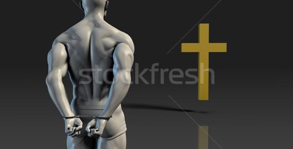 Goddelijk interventie religieuze verandering man Stockfoto © kentoh