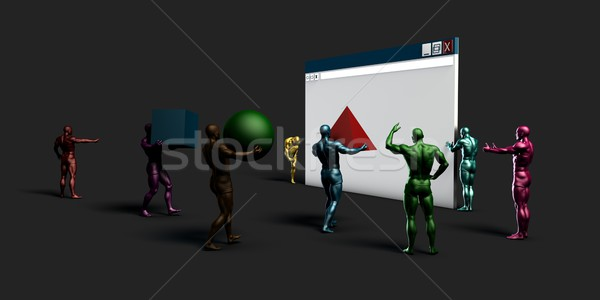 Internetowych przeglądarka danych grafiki Internetu tłum Zdjęcia stock © kentoh