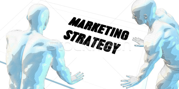 Strategia marketingowa dyskusji spotkanie biznesowe sztuki spotkanie tle Zdjęcia stock © kentoh