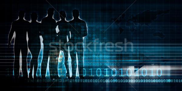 Tecnología red datos red web energía Foto stock © kentoh