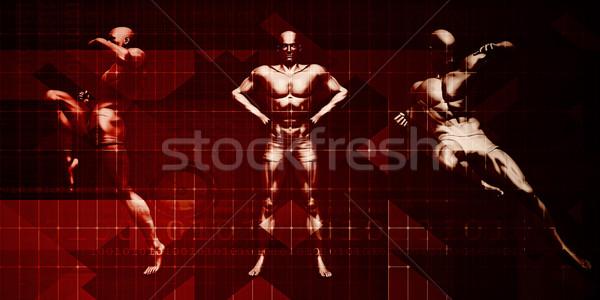 Zelfverdediging vechtsporten opleiding kunst mannen strijd Stockfoto © kentoh