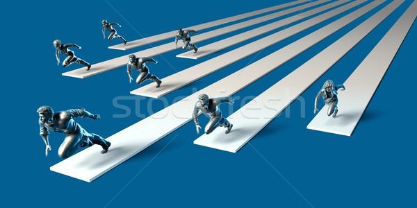 Racing to Success Stock photo © kentoh