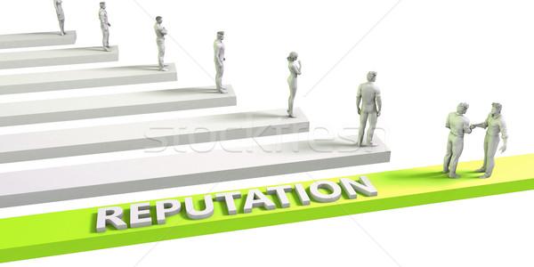 Gondolkodásmód sikeres üzlet férfi üzletember zöld Stock fotó © kentoh