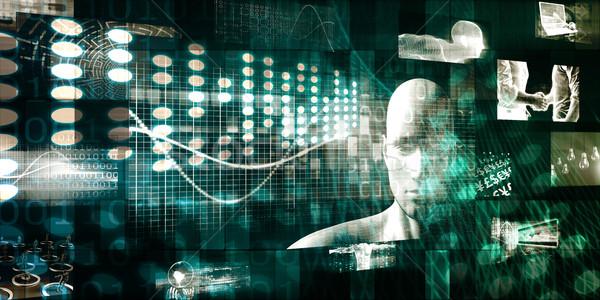 сеть наблюдение безопасности бизнеса компьютер аннотация Сток-фото © kentoh