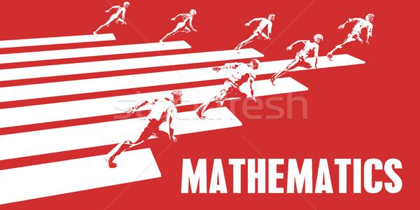 数学 ビジネスの方々  を実行して パス ビジネス 女性 ストックフォト © kentoh