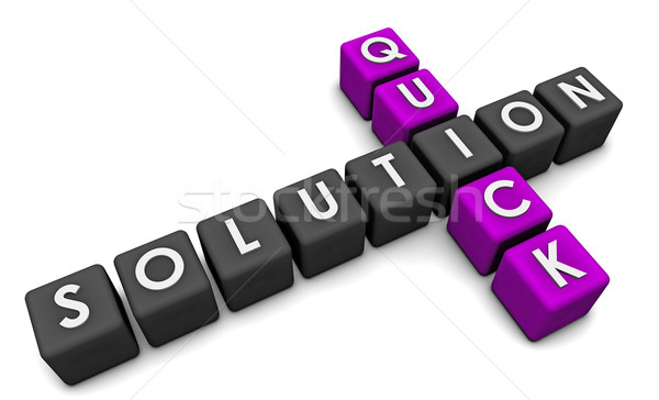 Quick Solution Stock photo © kentoh
