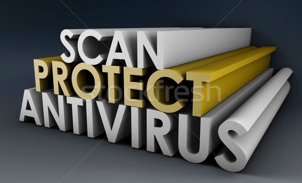 Antivirus scannen pc computer internet Stockfoto © kentoh